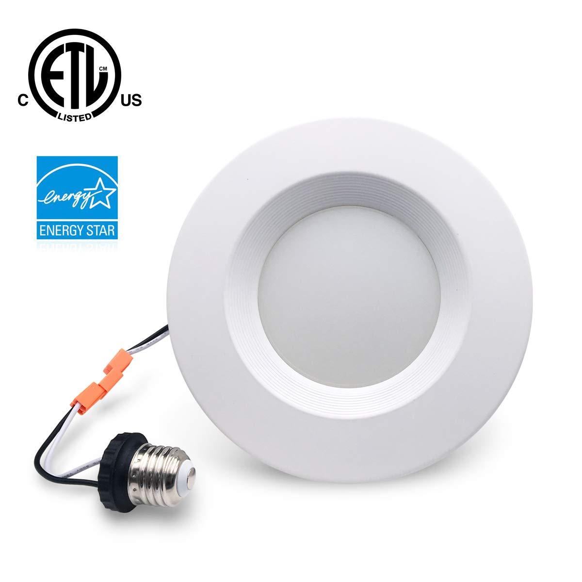 Modaao 6インチ LEDダウンライト (5インチ互換) 調光可能 15W (75W交換) CRI90 取り付け簡単 レトロフィットLED埋め込み照明器具 LED天井ライト 1 Pack B07HFRR8SL 5000k - Daylight 1 Pack