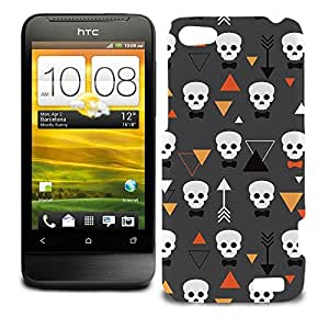 Phone Case For HTC One V - Geometric Skulls Protective Premium by lolosakes