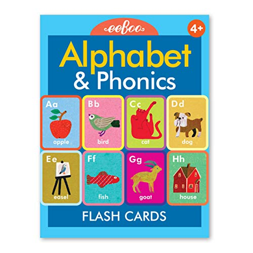 eeBoo Alphabet and Phonics Flash Cards, 1 EA