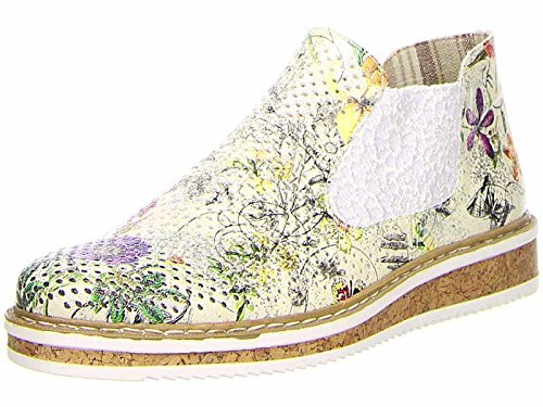 Stivaletto Rieker Da Donna Bicolore / Multicolore 991156-0 Ice-multi / Bianco