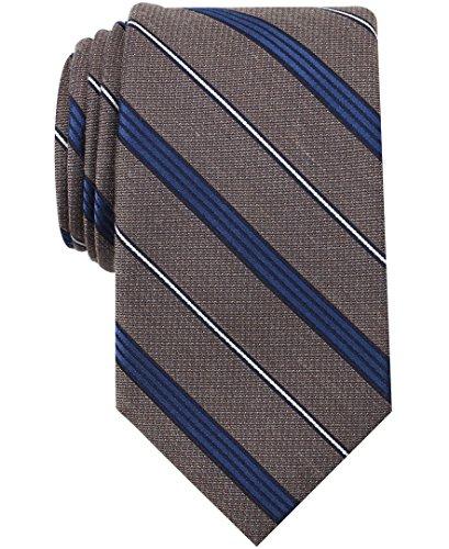 Perry Ellis (PERRK) Men's Bilge Stripe Tie, taupe One Size