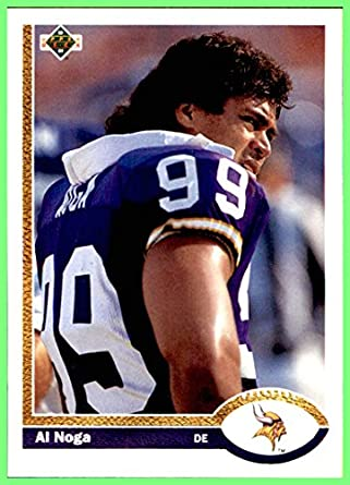 1991 Upper Deck #423 Al Noga MINNESOTA VIKINGS HAWAII at Amazon's