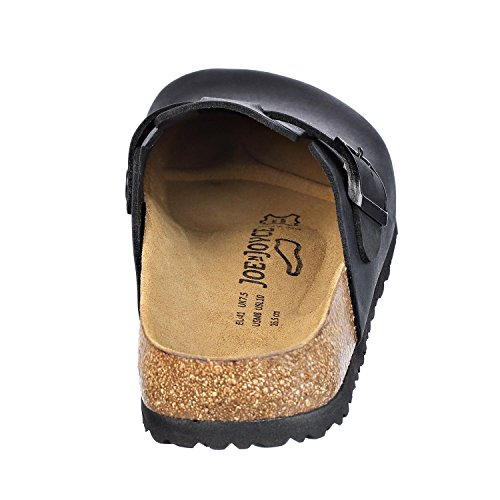 Narrow Clogs Slippers N Womens JOE Shoes and Mens Black JOYCE Leather Soft Softbedded nqwfU0I1R