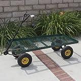 Wagon Garden Cart Nursery Trailer Heavy Duty Cart Yard Gardening Patio New