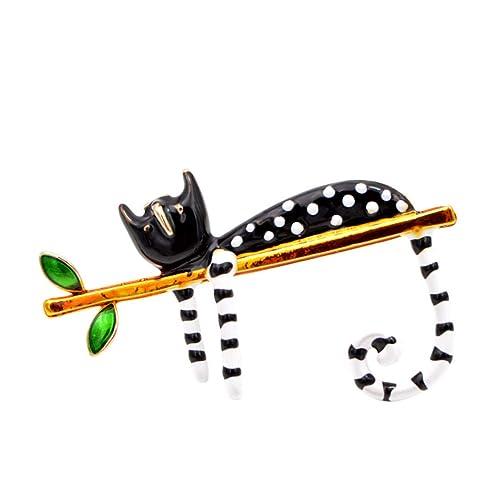 Amazon com: RHINE-VBRACH Lazy Cat Brooch Enamel Pin Carton