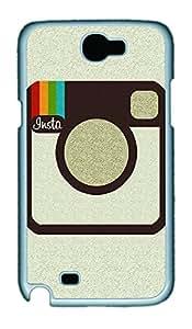 Samsung Note 2 Case Instagram PC Custom Samsung Note 2 Case Cover White