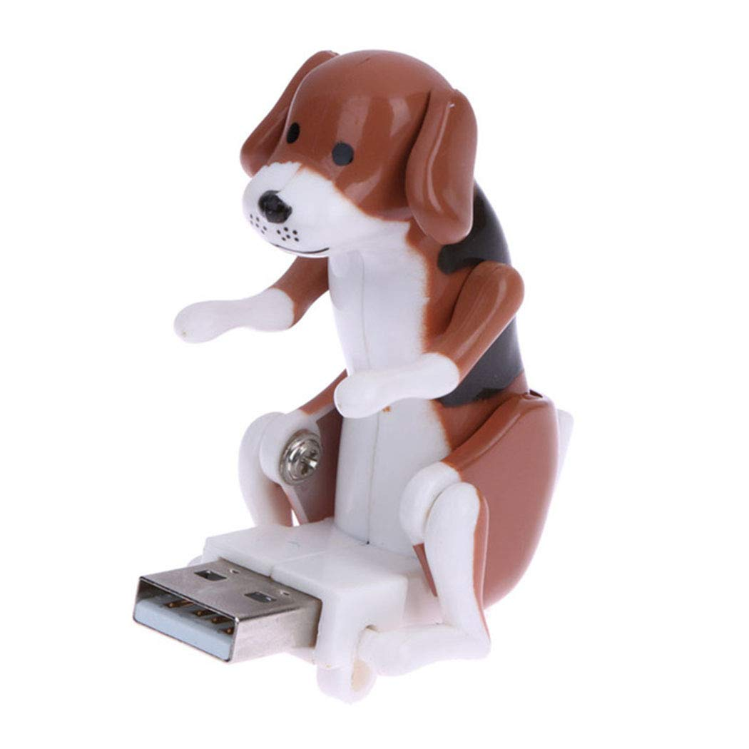Humping Spot Dog - Mini Funny Cute Dog USB Flash Drives for PC Laptop Adults Stress Relief Toy Gadgets (Brown) Inkach - USB Cable