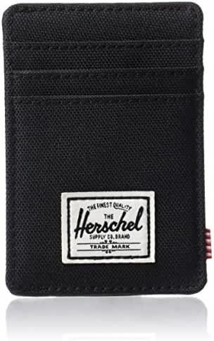 Herschel Supply Co. Men's Raven RFID Blocking Card Holder Wallet With Money Clip