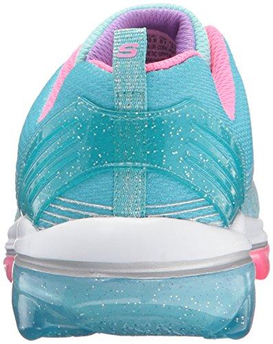 Skechers Mädchen Skech Air Deluxe Laufschuhe Mehrfarbig (Aqua Turquoise/pink)
