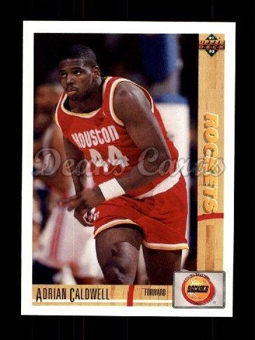 1991 Upper Deck # 310 Adrian Caldwell Houston Rockets (Basketball Card) Dean's Cards 8 - NM/MT Rockets