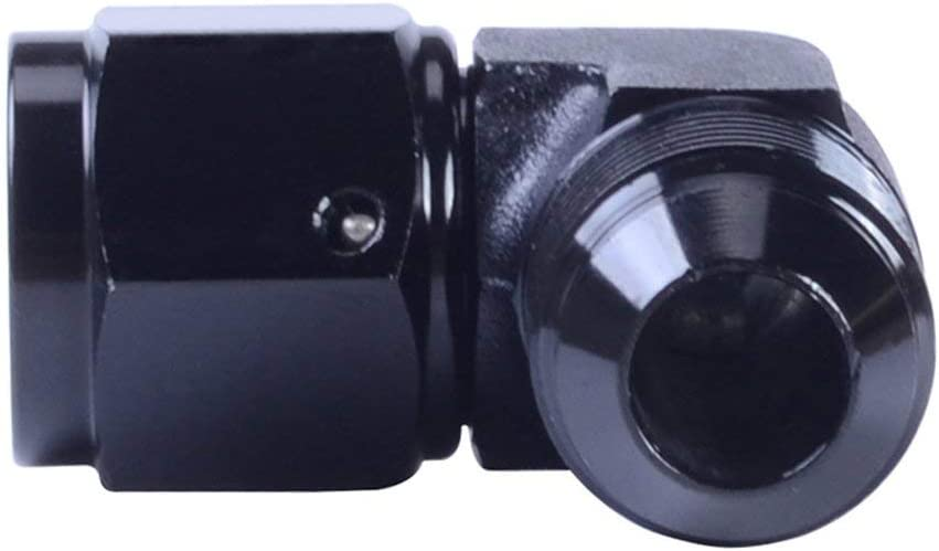 6AN 90degree 4 6 8 10AN Aluminum Female//Male Swivel 90 Degree Eblow Fitting Adapter