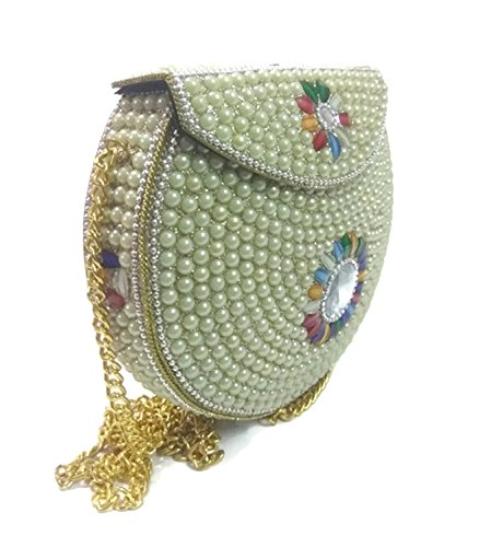 party clutches for women on sale women stone Metal bag metal clutch bridal party bag wallet Mosaic purses (White) (For Sale Mosaics)