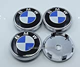 Tripoint® 4pcs Chrome Wheel Center Caps Covers Hubcaps 60mm For BMW