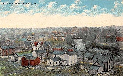 Union City Pennsylvania Birdseye View Of Town Antique Postcard K18451
