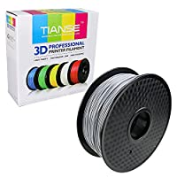 TIANSE Silver Metal 3D Printer Filament PLA 1.75mm 1KG Spool Filament for 3D Printing, Dimensional Accuracy +/- 0.03 mm from TIANSE