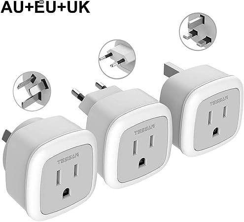 Australian Standard Socket Outlet Wall Plug Adapter to UK//US//EU//EURO Appliance