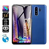 CMrtew 5.0 inch 5.8 inch Dual SIM Smartphone HD Camera Android 6.0 1G+4G Full Screen GSM/WCDMA Touch Screen WiFi Bluetooth GPS 3G Call Mobile Phone (Blue, 5.8 inch)