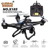 SUKEQ 6-axes X183 2MP HD Camera RC Quadcopter Drone (Black)