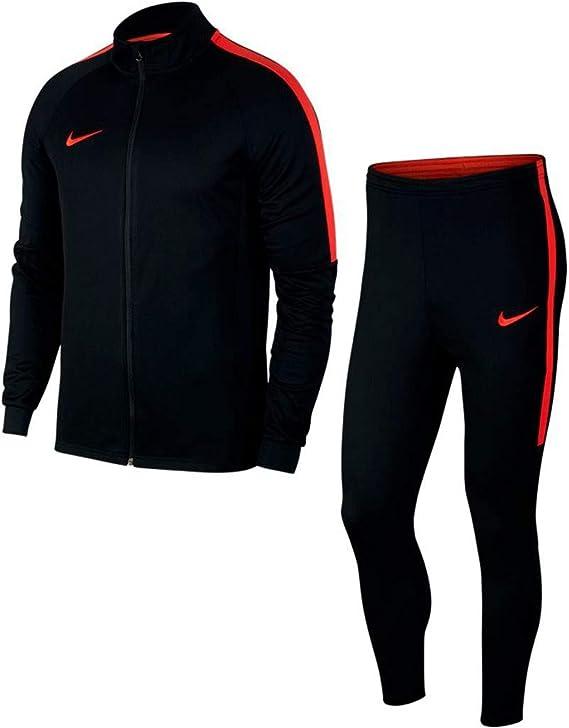 Nike Academy Chándal Dry, otoño/Invierno, Hombre, Color Negro/Rojo ...