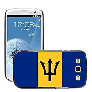 GoGoMobile Slim Protector Hard Shell Cover Case // V00001013 barbados National Country Flag // Samsung Galaxy S3 S III SIII i9300