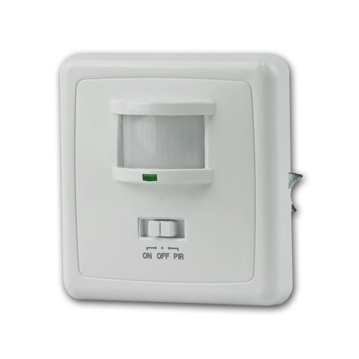 Unterputz PIR-Bewegungsmelder 160° LED geeignet, 3-Draht Technik, weiß Chilitec 21250