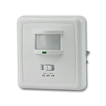 ChiliTec rasante Detector de movimiento PIR 160 ° LED Adecuado, tecnología de alambre 3,