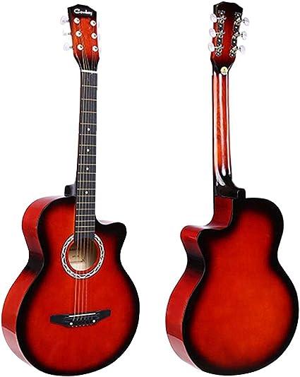 JJOnlinestore – Juego de guitarra acústica de color roja, tamaño ...
