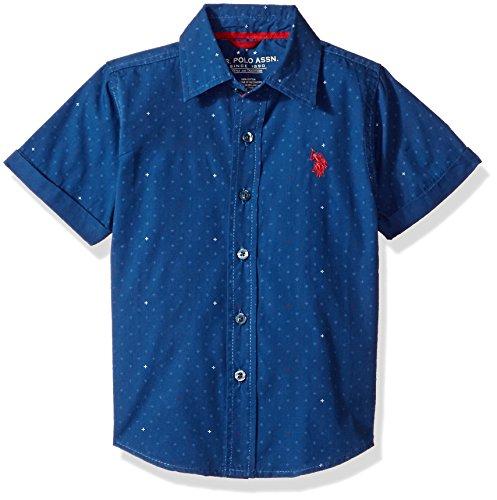 U.S. Polo Assn. Boys Short Sleeve Chambray Sport Shirt