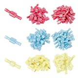 Onite 300pcs Wire Connectors, 60x Red 22-16AWG, 180x Blue 16-14AWG, 60x Yellow 10-12AWG), Fully Insulated Male & Female Spade Connector Quick Disconnect Crimp Cold-pressed Terminals Assortment Kit