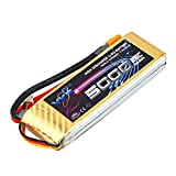 YKS BW216 7.4V 5000MAH 25C XT60 Plug Li-Po Battery for RC Model Remote Control Toys Parts
