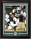 Curtis Martin Autographed Signed 16x20 Photo Ins 28 Framed Jets Coin Autograph Steiner Coa