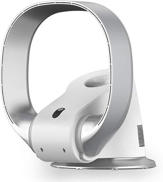 NANXCYR Ventilador de Pared Ultra silencioso Ventilador sin aspas Ahorro de energía Ventilador de Piso Cabezal agitador Ventilador Mando a Distancia Plata,220V: Amazon.es: Hogar