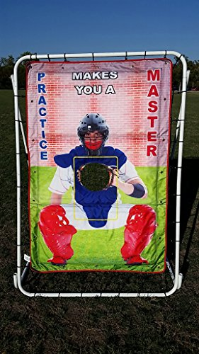 Master Catcher Pitch Target and Return Trainer Baseball Net Screen Multi Use