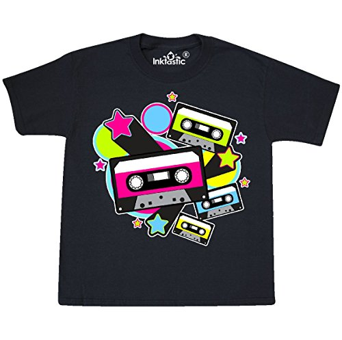 inktastic - The 80s Cassette Tapes Youth T-Shirt Youth Small (6-8) Black 31759