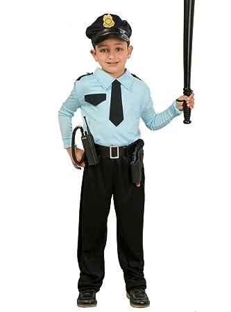 Guirca Costume da Poliziotto Bambino 5 6 Anni Maschio c1d6abcc0fe2