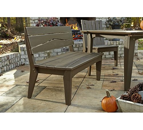 (Uwharrie Chair Co H072-19-Hunter-Dist-Pine Hourglass 2-Seat Bench with Back, Hunter-Distressed)