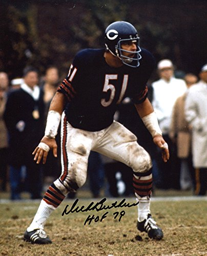 Dick Butkus Signed Autographed Chicago Bears 8x10 Photo Inscribed HOF 79 TRISTAR COA TRISTAR Productions