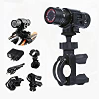 Sport Camcorder, POTO 1080P HD Bike Motorcycle Helmet Sports Mini Action Camera Video DVR DV Camcorder