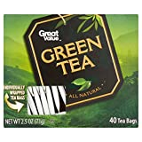 Great Value Natural Green Tea, 40 Tea Bags (Pack of 2)