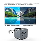 Tenker S6 Mini Cube DLP Projector with Wifi, Portable LED Pocket Pico Projectors for Outdoor Indoor Movies, Includes Mini Tripod, 30,000-Hour Leds, Supports iPad, iPhone Airplay and Android Smartphones