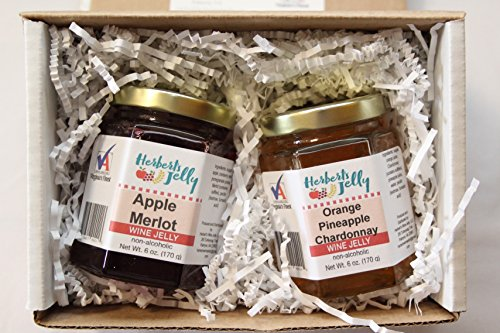 Pack-Herbert's Jelly-Apple Merlot and Orange Pineapple Chardonnay (6 ounces each) (Apple Merlot Wine)