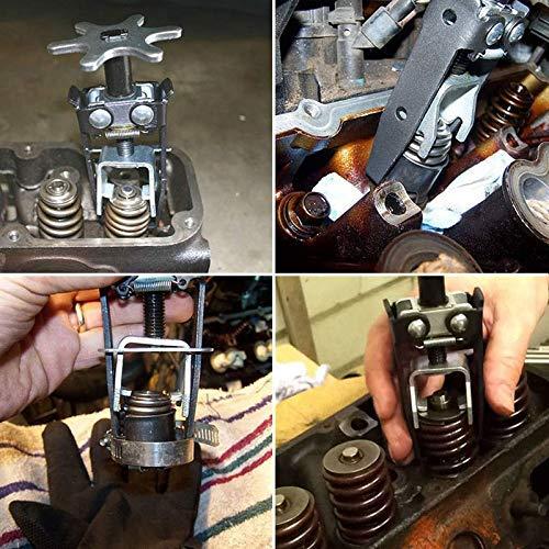 Buffyin Universal Coches Motor Arriba de la V/álvula Compresor de Resorte Instalador Quitar Pinza Eje Junta Herramienta