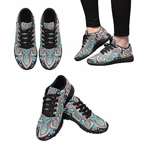 Interessante Womens Jogging Running Sneaker Leggero Go Easy Walking Comfort Sportivo Scarpe Da Ginnastica Etnico Mandala Ornamento Multi 1