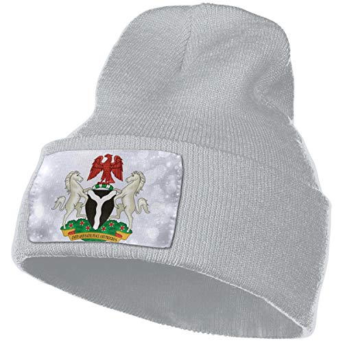 s of Nigeria Hat for Men and Women Winter Warm Hats Knit Slouchy Thick Skull Cap ()