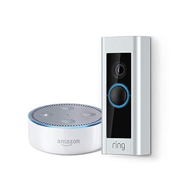 Ring Video Doorbell Pro + Echo Dot (2nd Generation) - White