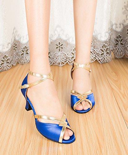 6cm MGM Donna EU Joymod 35 Satin Heel Blue Blu Sala qfpnq6