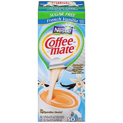 Carnation Coffee Mate Vanilla Coffee - Sf French Vanilla Creamer 375 Oz 50 Creamers Box [Nes91757]