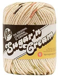 Lily Sugar 'N Cream Yarn, 2.5 Ounce, Ecru, Single Ball