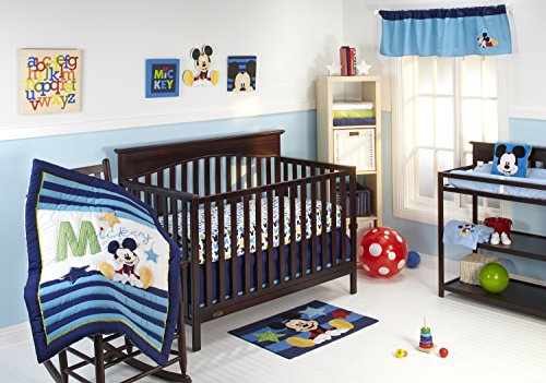 Set Disney Crib Sheet - Disney My Friend Mickey 4 Piece Crib Bedding Set
