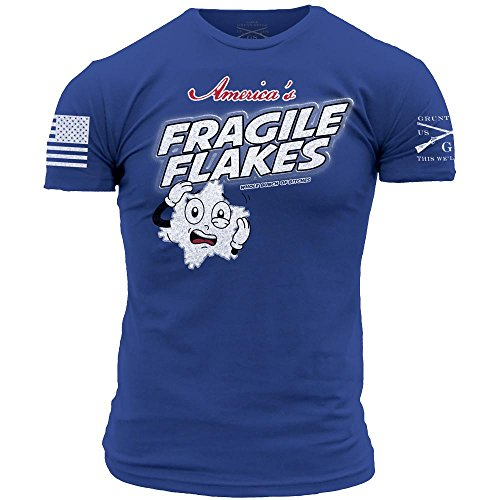 Grunt Style Fragile Flakes Men's T-Shirt, Color Royal, Size - Men For Styles